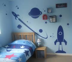 Space Bedroom Wallpaper Blue High Gloss Boys Kids Bedroom Set Bed Wardrobe Bedside Cabinet