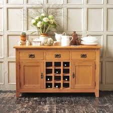 Small Sideboard With Wine Rack Quality Real Wood Sideboards In Oak Pine U0026 Painted Styles