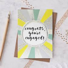 Congratulations On Your Engagement Card Congrats On Your Engagement Card By Jessica Hogarth Designs