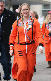 Nasa Halloween Costume Amy Schumer Dons Nasa Suit Women U0027s March Dc Daily Mail