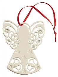 belleek living angel with gems ornament irish crossroads