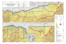 Oregon Ava Map map of vineyards wineries u0026 tasting rooms of columbia gorge