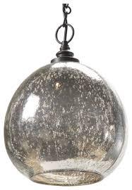 Glass Light Pendant Mercury Glass Pendant Light Shop Houzz Kathy Kuo Home