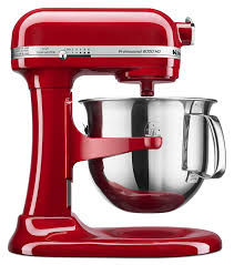Professional Kitchen Accessories - kitchen stainless steel bowl kitchenaid mixers in red with
