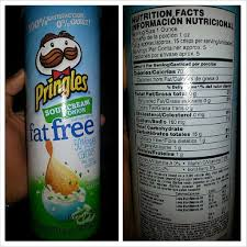 light sour cream nutrition fat free sour cream onion pringles shannon s lifestyle