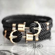 anchor bracelet black leather images Paul hewitt black anchor bracelet men 39 s fashion on carousell jpg