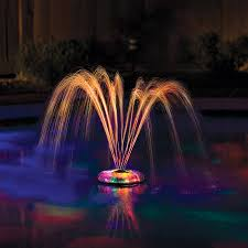 Solar Powered Water Features With Led Lights by Intex Led Pool Light Walmart Com