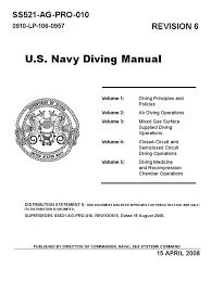 dive manual rev 6 acn 7a scuba diving underwater diving