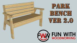 Free Park Bench Plans by Project Park Bench With A Reclined Seat Ver 2 0 Youtube