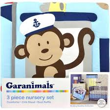 Monkey Crib Bedding Sets Garanimals Boating Buddies Crib Bedding Set 3 Piece Walmart Com