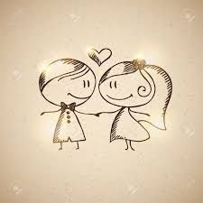 hand drawn wedding couple royalty free cliparts vectors and