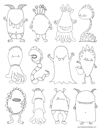 Halloween Monsters Coloring Pages by Monters Coloring Page Pdf Halloween Food U0026 Crafts Pinterest