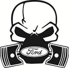 ford skull piston car vinyl sticker decal mondeo focus st