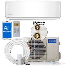 mitsubishi mini split install mrcool diy 18 000 btu 16 seer ductless mini split heat pump w