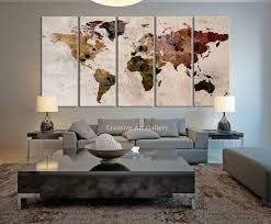Large Wall Decor Ideas For Living Room Best 25 World Map Decor Ideas On Pinterest World Map Wall