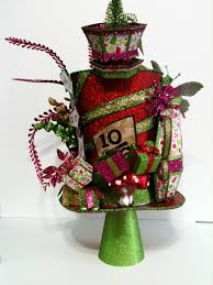 in mad hatter hat tree topper made