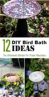 Easy Diy Garden Decorations 12 Diy Bird Bath Ideas To Attract Birds To Your Garden