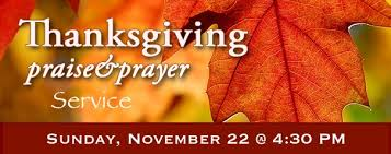 thanksgiving praise prayer service cbftqh