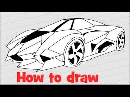 how to draw a lamborghini egoista how to draw a supercar lamborghini egoista