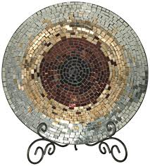 home decor plates amazon com dale tiffany antique gold mosaic charger plate home