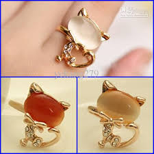 bracelet ring online images Online cheap cat charms ring jewelry cute bracelets gold fingers jpg