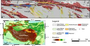 Tibetan Plateau Map Cenozoic Tilting History Of The South Slope Of The Altyn Tagh As