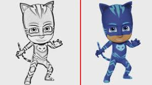 coloring book pj masks coloring pages catboy learning color