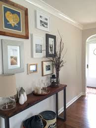 Benjamin More Benjamin Moore Pale Oak Fin A Hallway With Medium Toned Wood