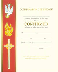 Confirmation Certificate Template confirmation certificate xc104 box of 50 banner with cross