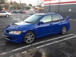blue mitsubishi lancer los angeles 2003 mitsubishi lancer evolution 8 stock evo blue 03