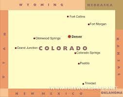 Colorado Springs Colorado Map by Colorado Maps