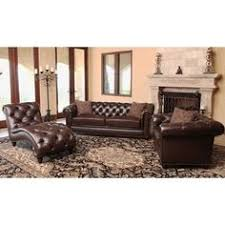 Top Grain Leather Living Room Set by Abbyson Living Tuscan Tufted Top Grain Leather 3 Piece Sectional