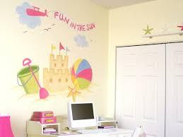 fresque murale chambre design interieur fresque murale chambre enfant plage chateau