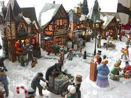 miniature villages happy holidays