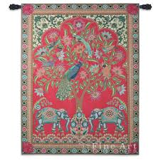 India Tapestry Wall Hanging Ethnic Ornamental Design H X W - Indian wall hanging designs