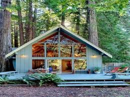 a frame homes tiny house cabin view kitchen