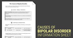 causes of bipolar disorder worksheet therapist aid