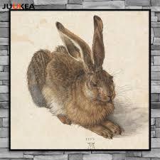 classic rabbit classic hare by albrecht durer classic rabbit sketch animal canvas