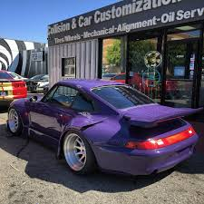porsche rwb los angeles welcomes new rauh welt begriff build with purple
