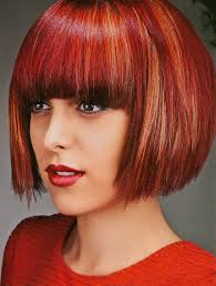 red bob with bangs bob pinterest red bob bobs and bangs