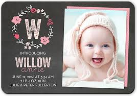 birth announcements crafty collage girl birth announcements shutterfly