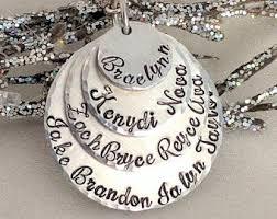 grandkids necklace grandkids jewelry etsy