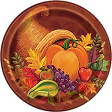 fall harvest thanksgiving dinner plates 8ct kitchen