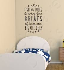 wall decal fishing poles hunting gear dreams jpg