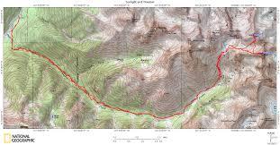 Colorado Fourteeners Map by Sunlight Peak And Windom Peak