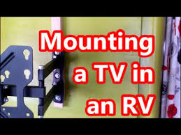 Rv Under Cabinet Tv Mount Mounting A Flatscreen Led Tv In An Rv Paper Thin Walls Youtube