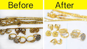 how to clean gold jewellery at home आस न तर क स न