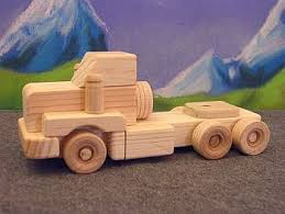 wooden toys tandem day cab tractor
