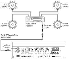 jbl gt basspro12 powered car subwoofer wiring diagram circuit