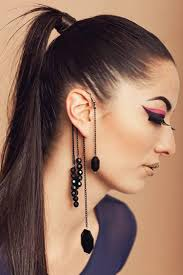 ear cuff jewelry best fashion vintage rock exquisite black tassels